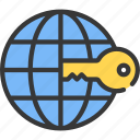 information, internet, key, secure, security icon