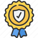award, information, secure, security, tick icon