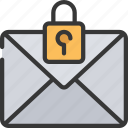 emails, information, mail, secure, security icon