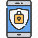 device, information, iphone, mobile, secure, security icon