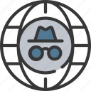 anonymity, incognito, information, internet, security icon