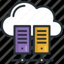 center, cloud, data, server, storage