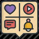 google, heart, love, media, social