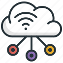 connect, network, social, social network, technology icon