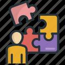 person, problem, puzzle, solution, solving