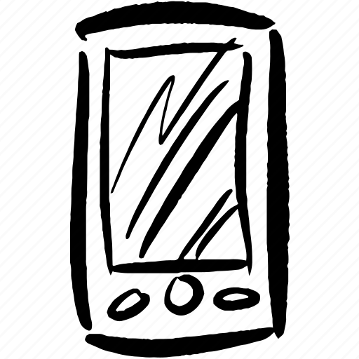 call, communication, device, hand drawn, mobile, phone, wi-fi icon