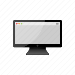 computer, display, monitor, screen icon