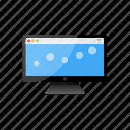 blue, computer, display, monitor, screen icon