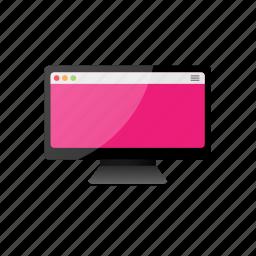 computer, display, empty, monitor, screen icon