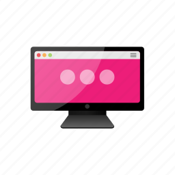 computer, dots, monitor, screen icon