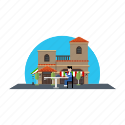 burger, dish, eating, public, restaurant icon