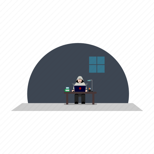 books, computer, digital, hacking, laptop icon