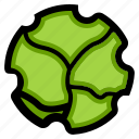burger, lettuce, vegetable icon