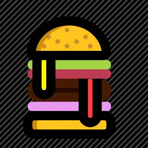 burger, burgerking, yummy icon