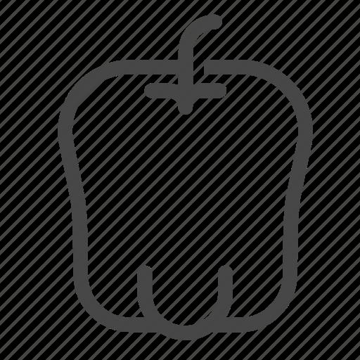bell pepper, capcicum, food, ingredient, sweet peeper, vegetable icon