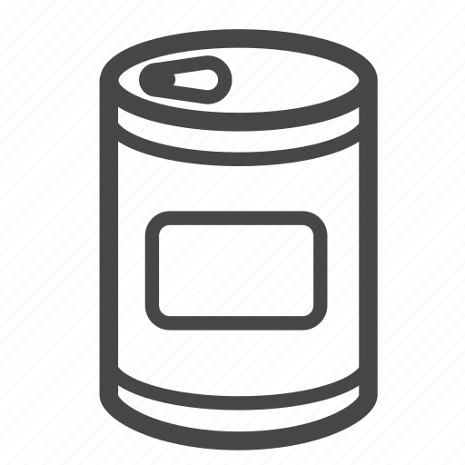can, canned, food, ingredient, meal, tinned food icon