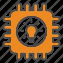 chip, idea, innovation, iot icon