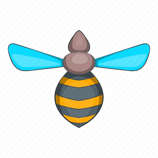 bee, cartoon, fly, honey, nature, objectinsect, yellow icon