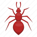 animal, ant, antenna, bug, cartoon, insect, nature icon