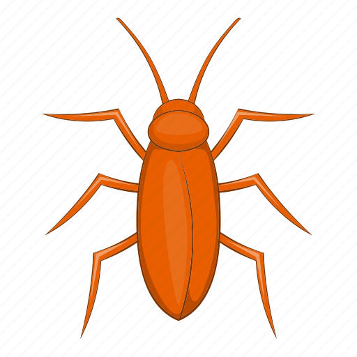 bug, cartoon, cockroach, control, dead, insect, pest icon