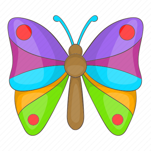 butterfly, cartoon, colorful, decoration, objectspring, summer icon