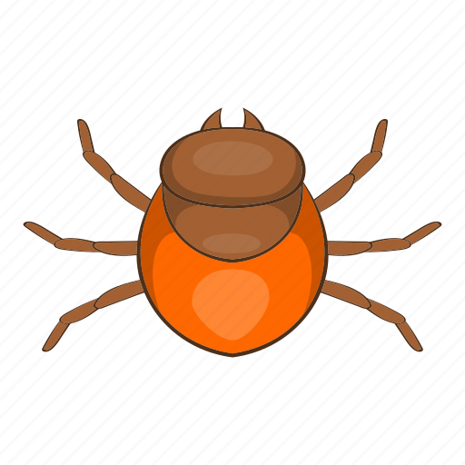 bug, cartoon, dangerous, disease, insect, parasite, tick icon