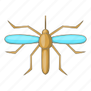cartoon, fever, gnat, insect, malaria, mosquito, virus icon