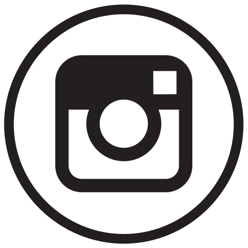 instagram, liner, round, social media icon