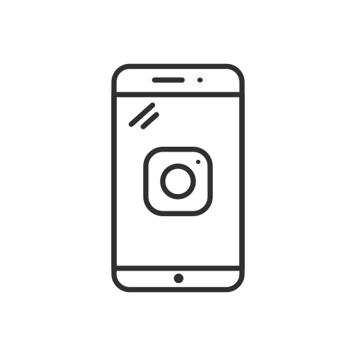 instagram, logo, mobile, phone icon