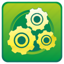 engine, gears, options, settings, tools icon