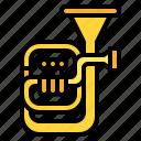instrument, music, musical, tuba icon
