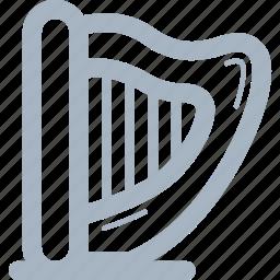 harp, instruments, music icon