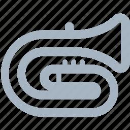 instruments, music, trumpet, valve icon