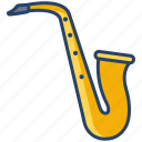 saxophone, instrument