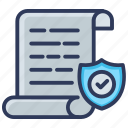 document, insurance, protection, safe, safety, security icon