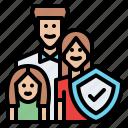 family, shield, insurance, protection