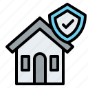 house, shield, insurance, protection