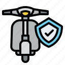 motorbike, shield, insurance, protection