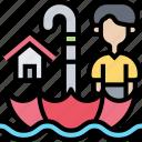 flood, disaster, natural, damage, insurance