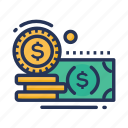 banking, currency, dollar, finance, financial, money, payment icon