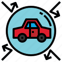 and, car, gestures, hand, hands, insurance, shield, transport icon
