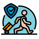 1, airport, and, flight, gestures, hands, insurance, plane, transportation, travel, trip icon