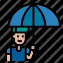 and, protection, rain, rainy, security, tools, umbrella, umbrellas, utensils, weather icon