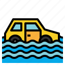 flood, flooded, floods, house, insurance, water icon