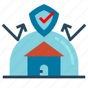 architecture, estate, home, housing, insurance, protection, real icon