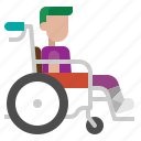 wheelchair, handicap, signaling, disability, disable, sign icon