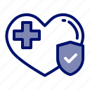 guard, health insurance, healthy, heart care, insurance, protection, shield icon