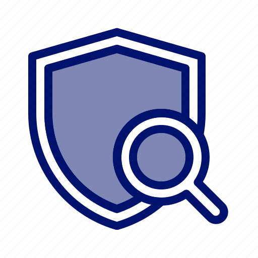 browsing, guard, insurance, magnifier, protection, search insurance, shield icon