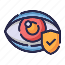 eye health, eye insurance, guard, insurance, optical, protection, shield icon