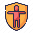 family, guard, healthy, insurance, life insurance, protection, shield icon